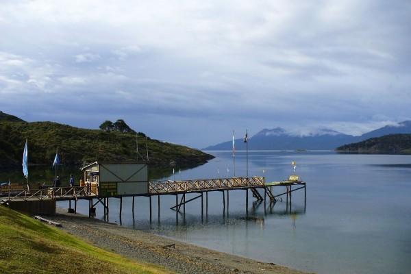 Bahía Ensenada en el Canal de Beagle (Tierra del Fuego, Argentina)