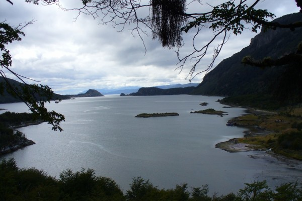 Bahía Lapataia en Tierra del Fuego (Argentina)