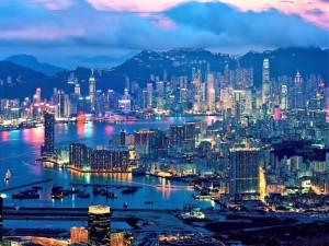 Últimos rayos de sol en Hong Kong