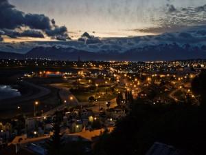 Postal: La noche en Tierra del Fuego (Argentina)
