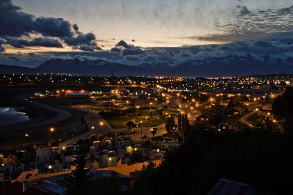 La noche en Tierra del Fuego (Argentina)