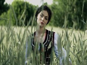 Una mujer en el trigal