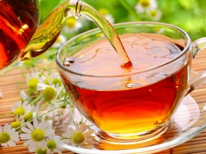 Sirviendo un rico té