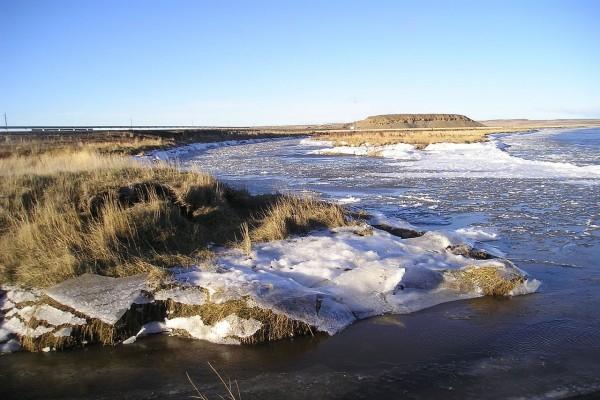 Río Grande en invierno (Tierra del Fuego, Argentina)