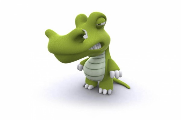 Un cocodrilo enfadado