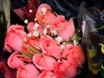 Bello ramo de rosas color rosa