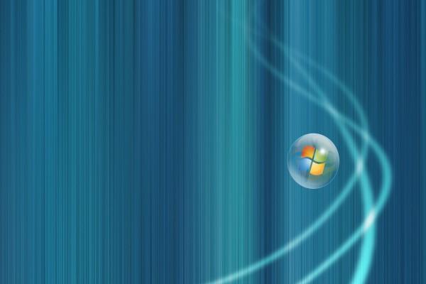 Logo de Windows en una burbuja