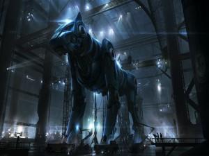 Postal: Un gran perro robot