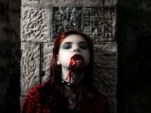 Postal: Una joven vampiresa
