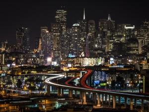 Postal: Noche en San Francisco