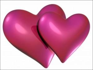Dos corazones que representan el amor