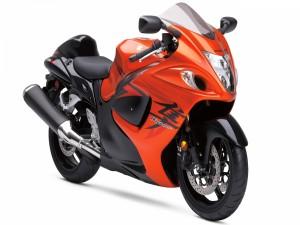 Postal: Suzuki Hayabusa de color naranja