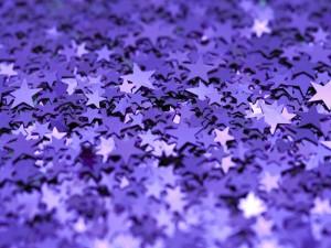 Estrellas moradas