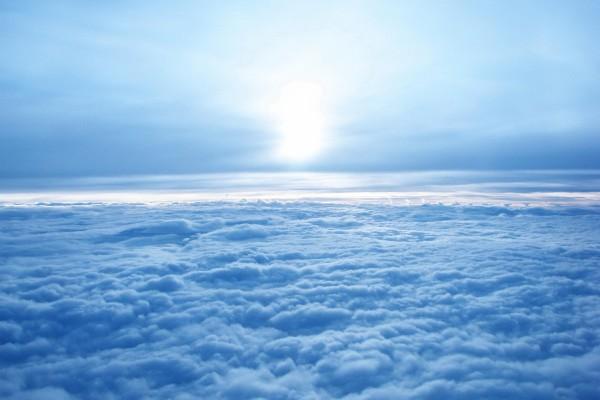 El sol cubierto de nubes