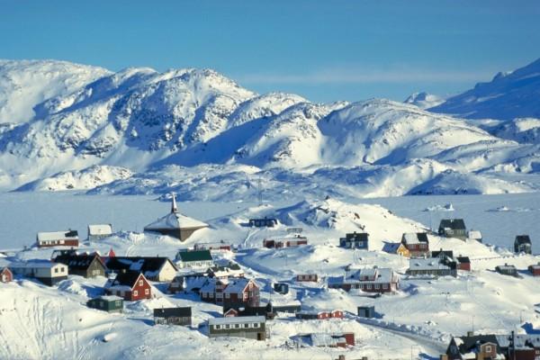 La población de Tasiilaq en pleno invierno