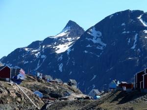 Bello poblado de Sisimiut (Groenlandia)