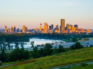 Postal: Amanecer en Calgary, Canadá