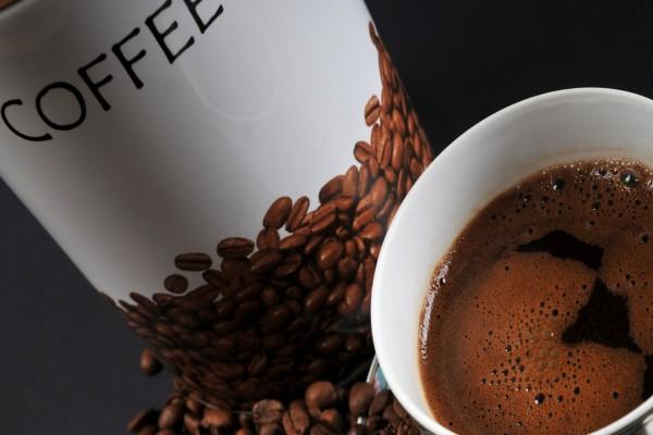 Taza de un intenso café