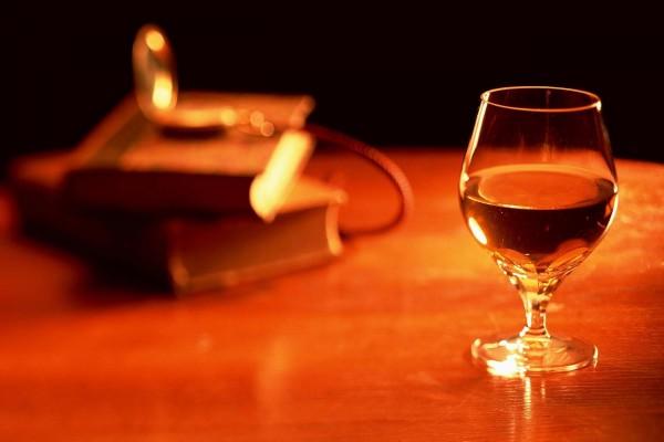 Una copa de coñac