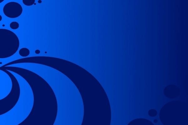 Líneas curvas y círculos azules