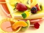 Brochetas de frutas frescas