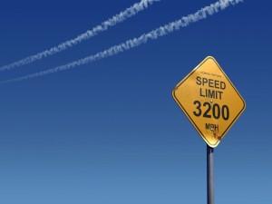 Postal: Límite de velocidad 3200 MPH