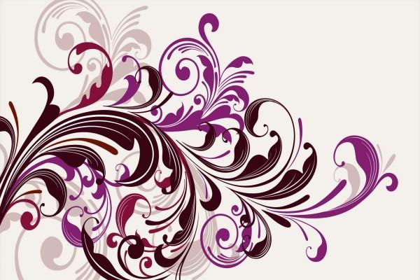 Unas flores abstractas de colores