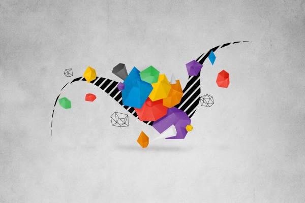 Formas geométricas de varios colores