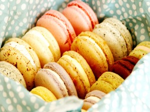 Postal: Macarons de varios sabores