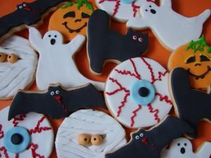 Postal: Divertidas galletas para la noche de Halloween
