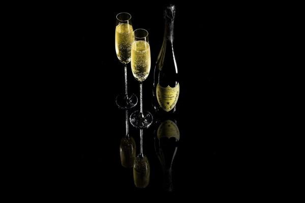 Botella de champán Don Pérignon