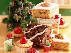 Postal: Bizcochitos para Navidad
