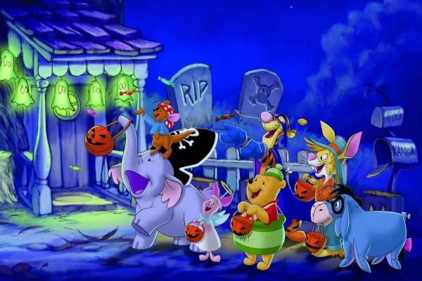 Winnie the Pooh y sus amigos en la noche de Halloween
