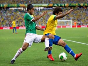 Postal: Partido México vs Brasil Copa Confederaciones