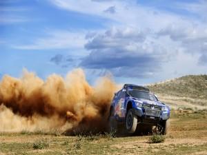 El Volkswagen de Carlos Sainz en el Rally Dakar