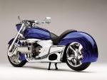 Bonita moto Honda de color azul
