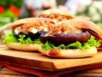 Ricas hamburguesas de setas
