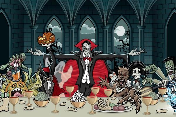 La última cena de Halloween