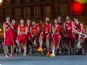 Jugadores de la Selección Española de Baloncesto