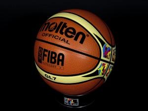 Postal: Balón oficial de la Copa del Mundo de Baloncesto España 2014