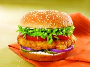 Postal: Hamburguesa de pollo frito