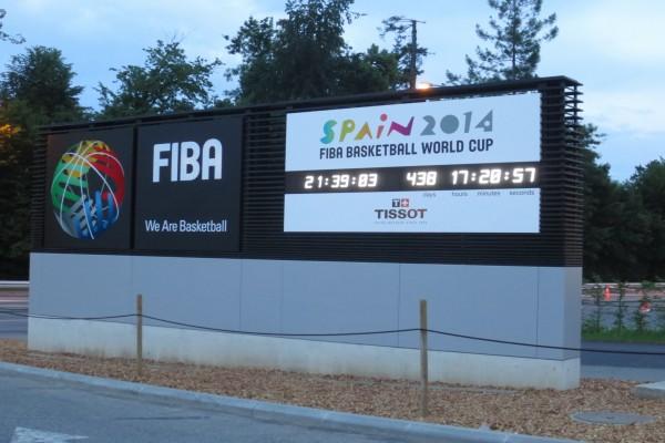 """Gran reloj de la """"Copa del Mundo de Baloncesto España 2014"""""""
