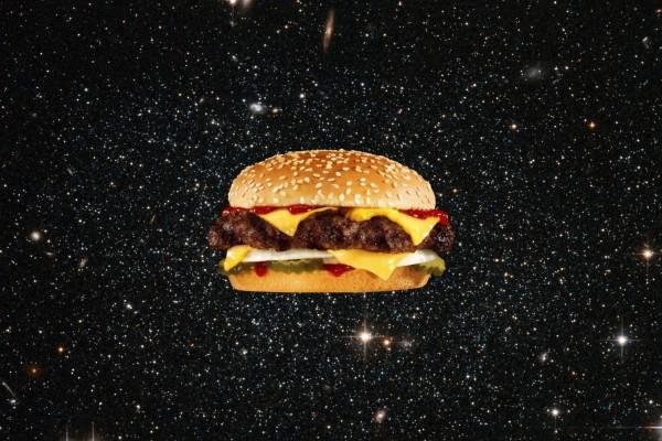 Una hamburguesa espacial