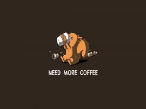 Necesito más café