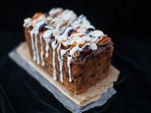 Postal: Cake con frutos secos