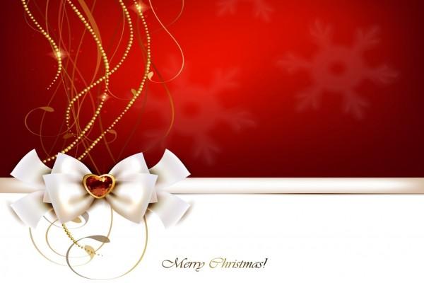Preciosa postal con adorno navideño