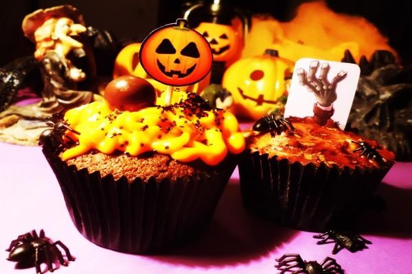 Cupcakes de calabaza para comer en Halloween