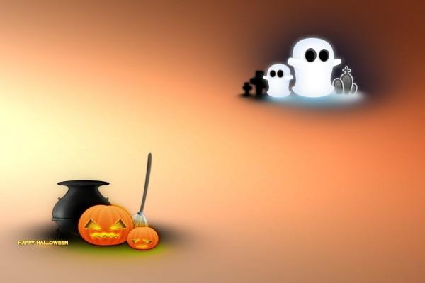 """Fantasmas y calabazas te desean un """"Feliz Halloween"""""""