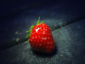 Una brillante y dulce fresa