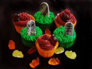 Postal: Cupcakes para comer en Halloween